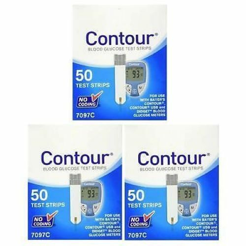 Bayer Contour Test Strips - 150 Count (3 Boxes of 50)  exp  03/31/2020