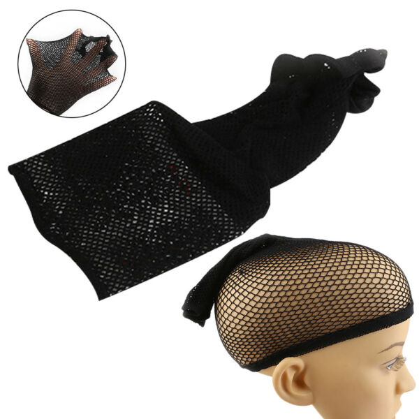 5Pcs Elastique Perruque Filet Cheveux Hairnet Bonnet Chapeau Respirable Coiffe