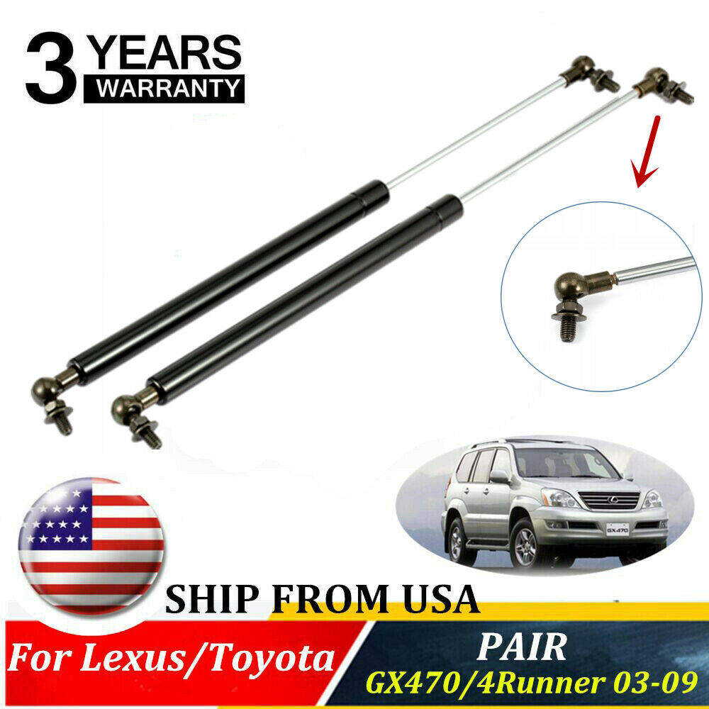 2XFront Hood Lift Supports Shock Strut For Lexus GX470 Toyota 4Runner 03-09  6228 612677659605 | eBay