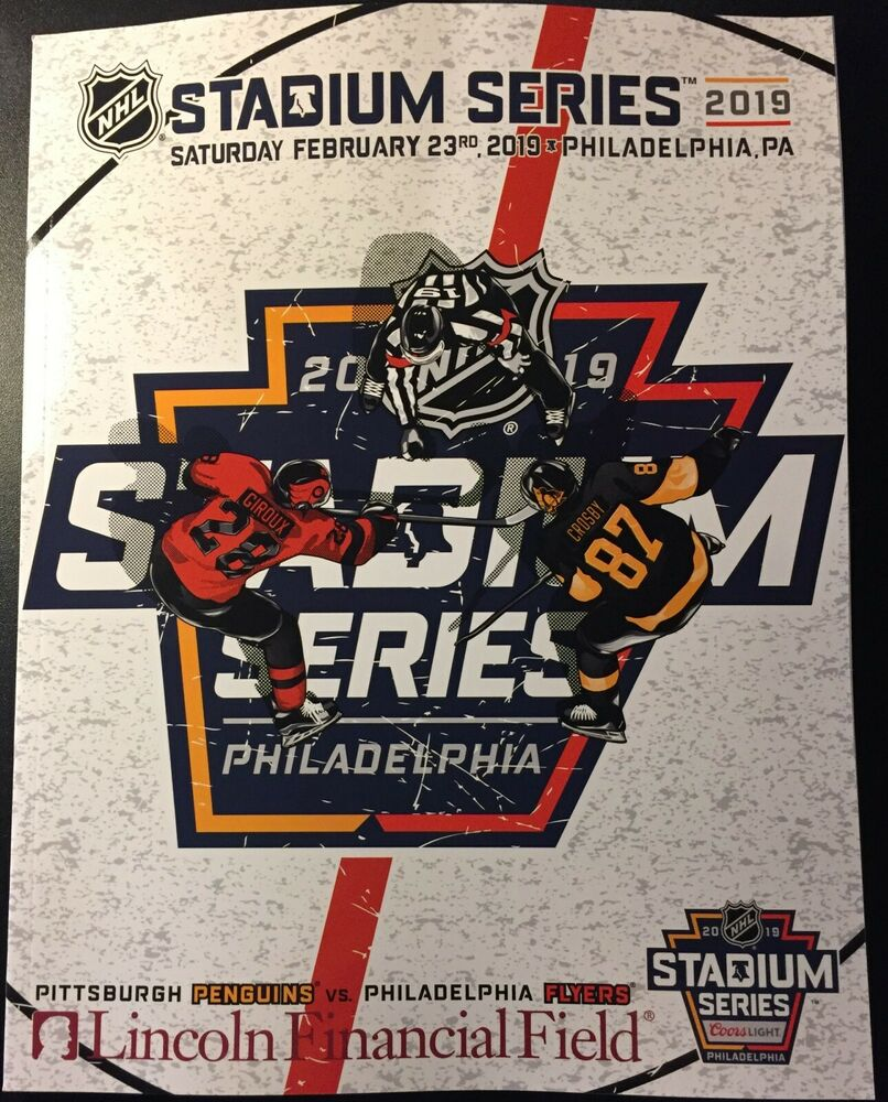 2019 NHL STADIUM SERIES GAME PROGRAM PENGUINS FLYERS SEE EBAY STORE PUCK  PATCH  abe932e99