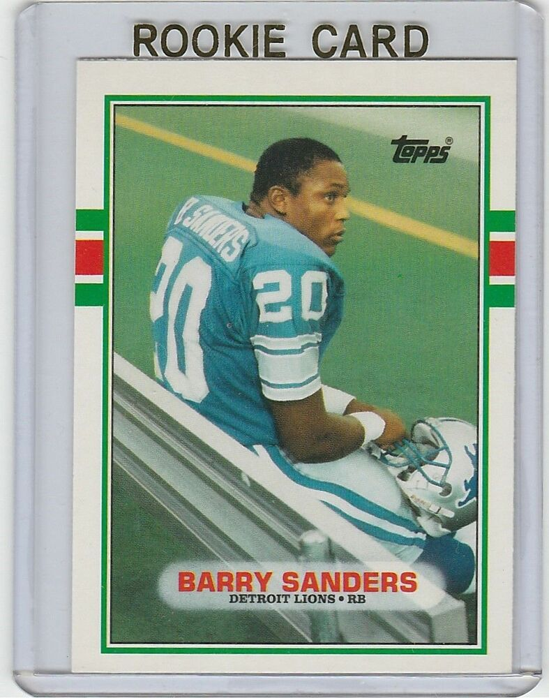 Barry Sanders Lions 1989 Topps Traded Rookie Card 83t Sp Rc