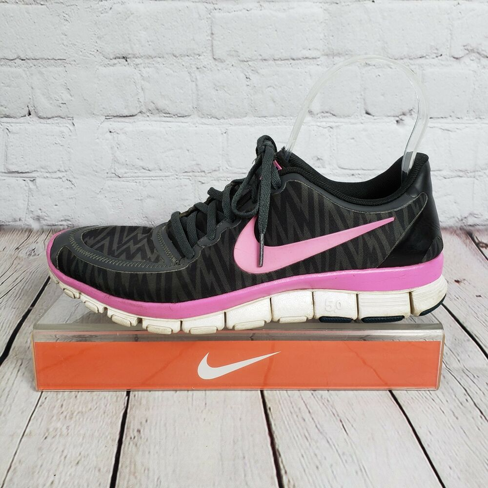 2fc19160568ad Details about NIKE FREE 5.0 V4 WOMEN S SIZE US 8.5 EUR 40 RUNNING BLACK  PINK 511281 009