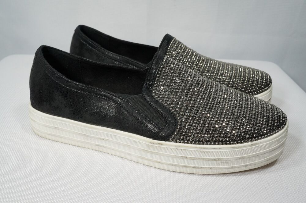 9fa61a83b48 Details about Skechers Street Womens Double Up Shiny Dancer Sneaker 8 M   801 Slip On