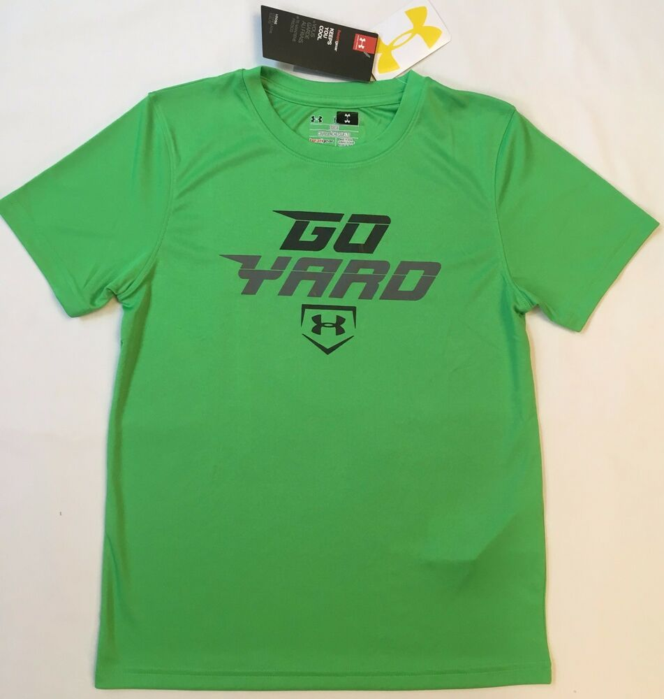 9bc7e61079c Details about NWT youth Boys  YMD medium UNDER ARMOUR t-shirt tee loose  lightweight BASEBALL