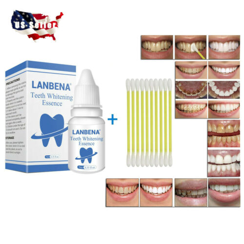 LANBENA Teeth Whitening Essence Serum Plaque Stains Remove Liquid Oral Care 10ml