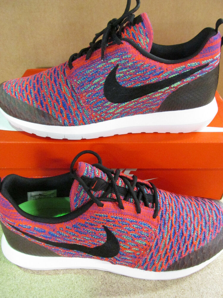 hot sale online a20e8 6bb59 Details about Nike Roshe NM Flyknit SE Mens Running Trainers 816531 600 Sneakers  Shoes