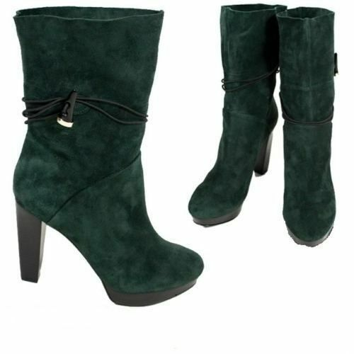 07cdb890cff8d2 Details about HOUSE OF HARLOW 1960 NICOLE RICHIE Dark Green DYSON Booties  SUEDE FREE SHIPPING