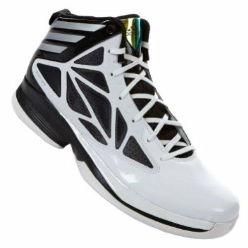 low priced 3b0d2 32f57 Details about ADIDAS CRAZY FAST ADIZERO LIGHT II Basketball Shoes G65884  Mens 8.5 White Black