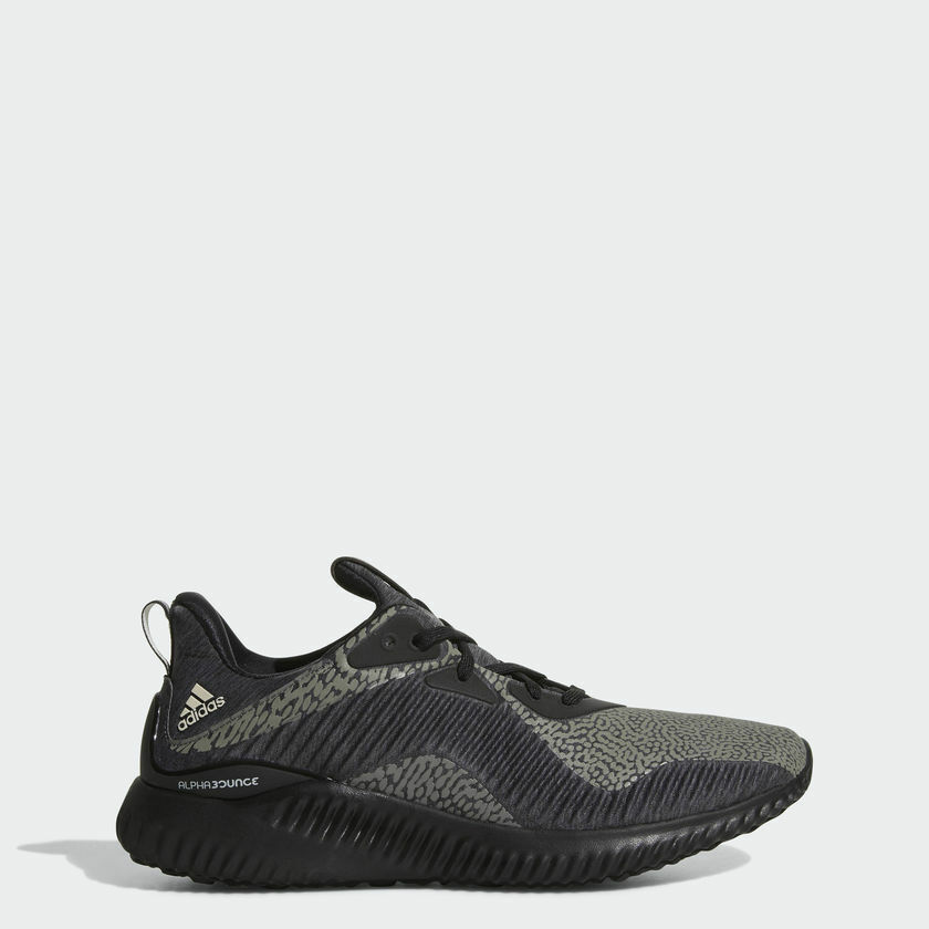 f4ddd55ca Details about Adidas Alphabounce Hpc Ams Mens Running Shoes DA9561 Black Grey  MULTIPLE SIZES