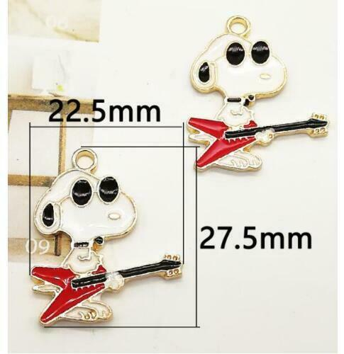 20pcs Cartoon Anime CHIEN METAL Charm Pendentif À faire soi-même Collier Jewelry Making