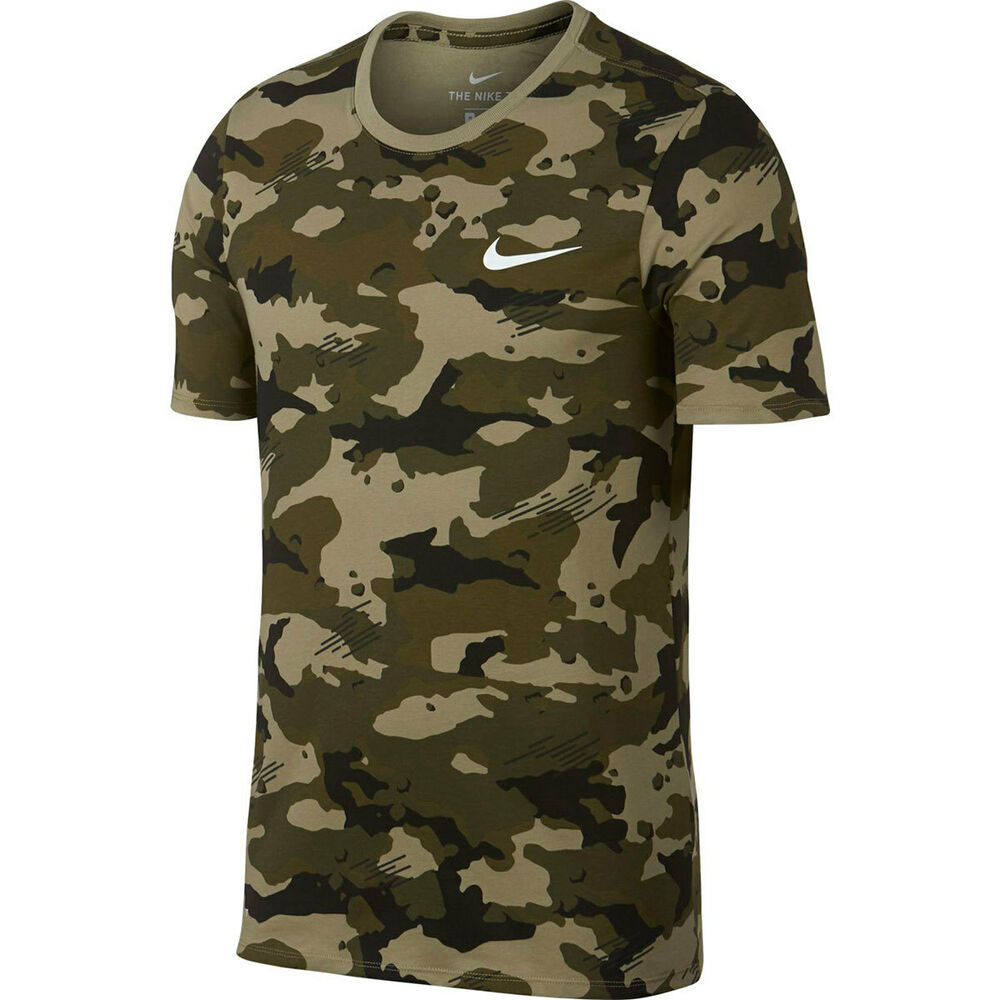 8dd618a01 Details about MEN'S NIKE CAMO AOP Dry Tee Dri-FIT T-SHIRT TRAINING OLIVE  GREEN-209 XXL