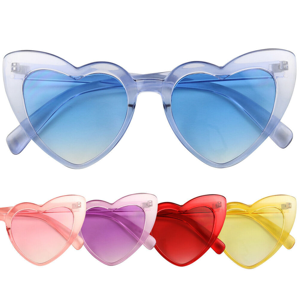 f4dcade6c56a0 Details about ShadyVEU Oversized Heart Shaped Candy Colorful Love High Tip  Round lot Sunglass