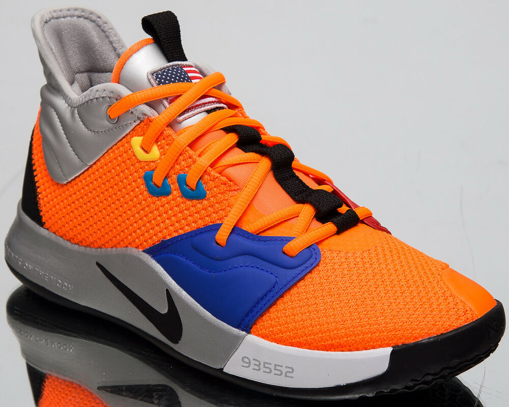 c2b12adac96 Details about Nike PG 3 NASA Men s New Total Orange Black Basketball OKC  Sneakers CI2666-800
