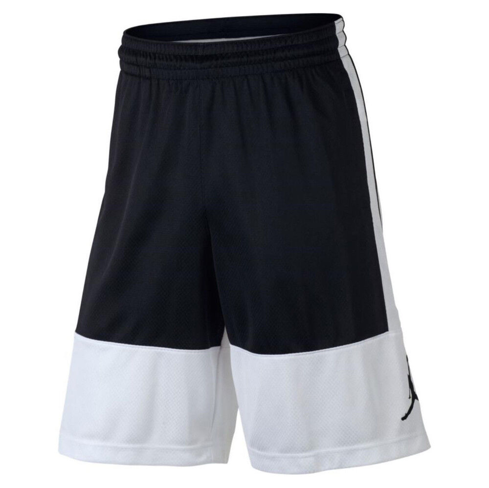 half off 16e62 730ab Details about NIKE Jordan Basketball Shorts AR2833-100 White Black S, M