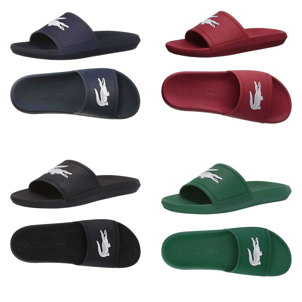 b9ccb4dda Details about New Lacoste Men s Croco Paris Slide in Round Toe Sandals  Summer Open Toe Flats