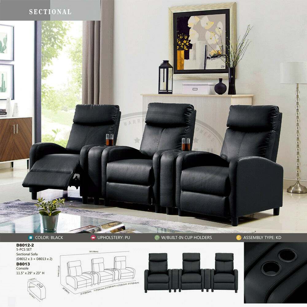 Usa Leisure Leather Recliner Chair Padded Living Room Sofa Home