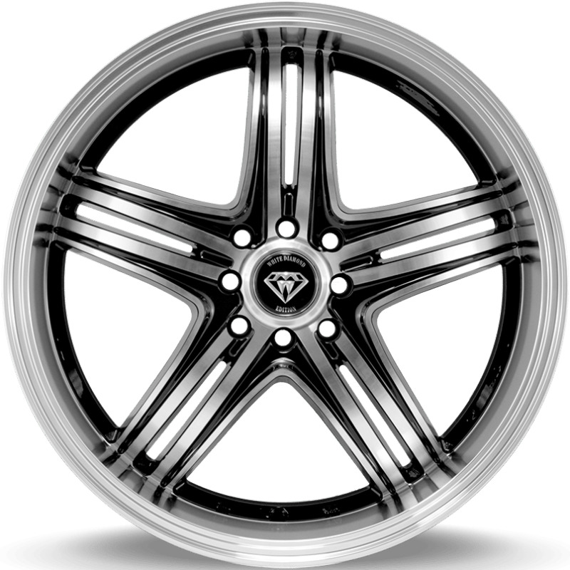 4 18x8 White Diamond W 288 Machined Black Custom Wheels 5x100