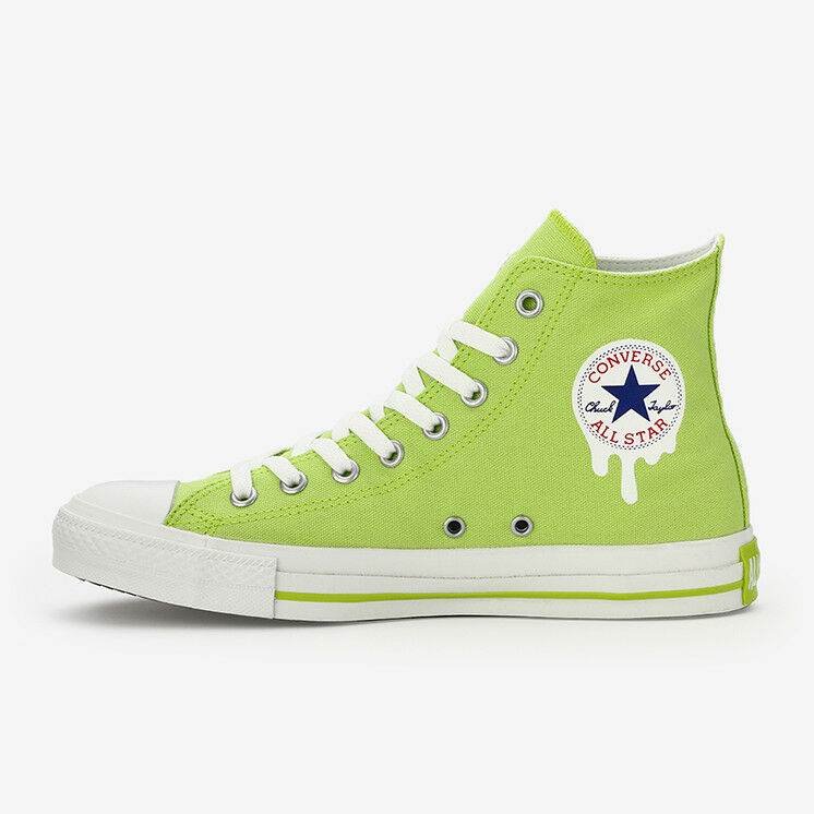 c5bf4aa643b9 Details about CONVERSE ALL STAR DRIPPATCH HI Lime Chuck Taylor Japan  Exclusive