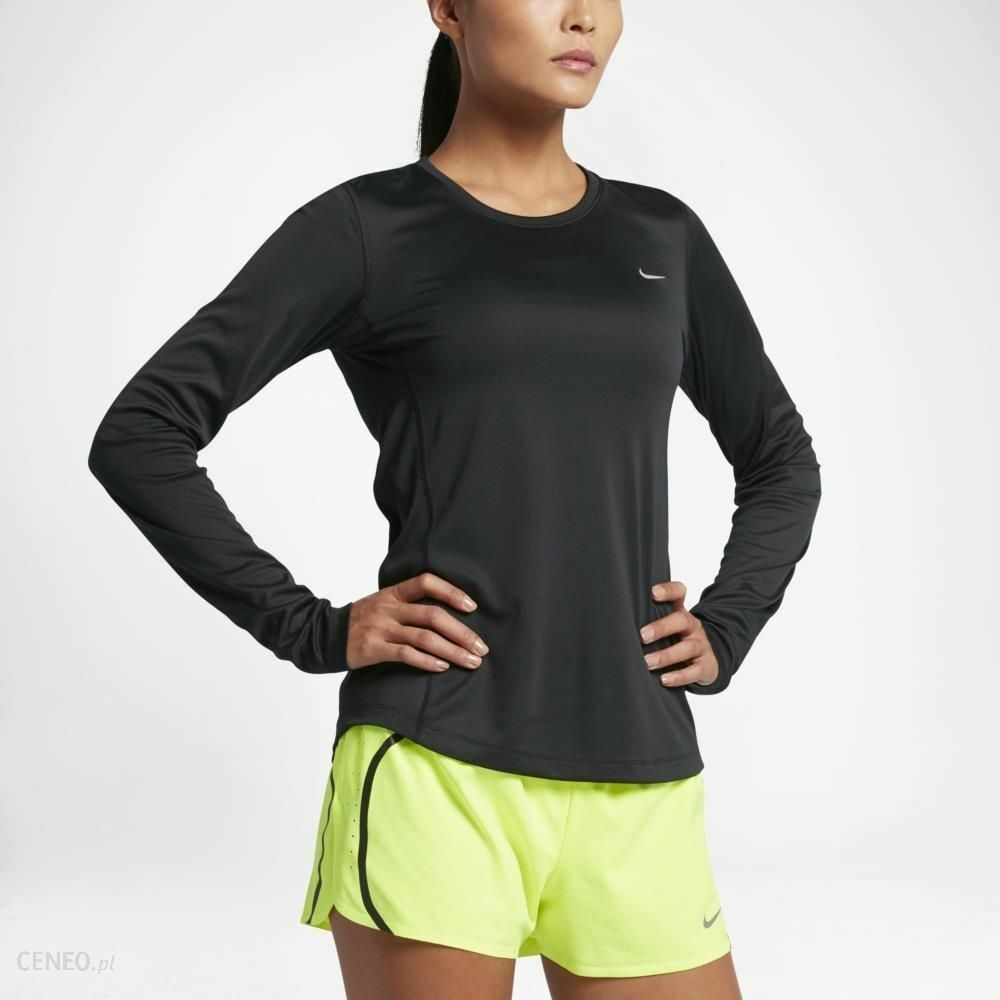cad1bec3 Details about NWT Nike Dri-Fit Miler Long-Sleeve T-Shirt Black Size S  686904-010 Running