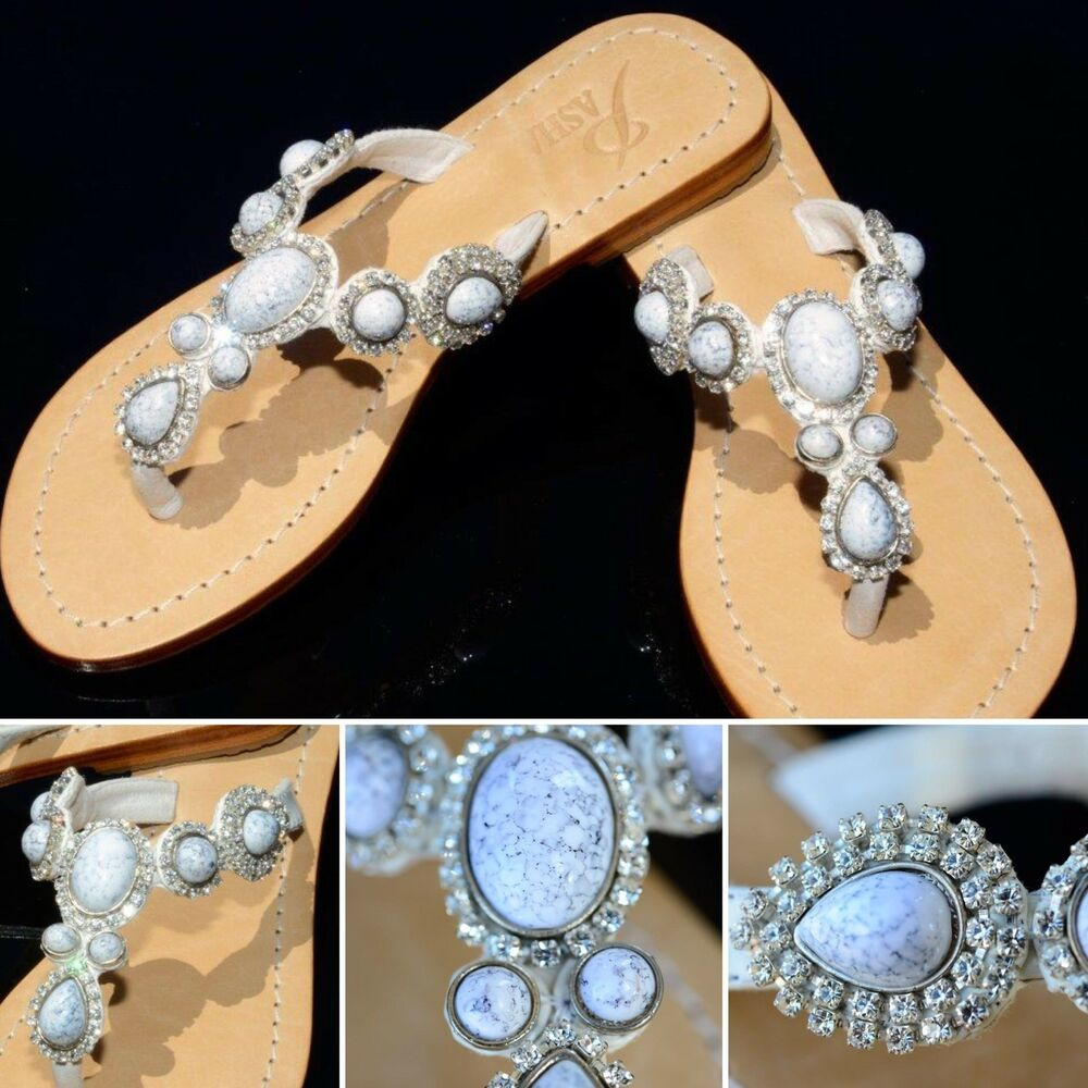 a7a096cd9f46 Details about GORGEOUS JEWELED GENUINE LEATHER SHOES PASHA