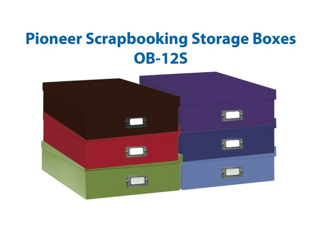 Charmant Details About Pioneer OB 12S Jumbo Storage Box F/Photos/Negative Bright  Blue Free Shipping
