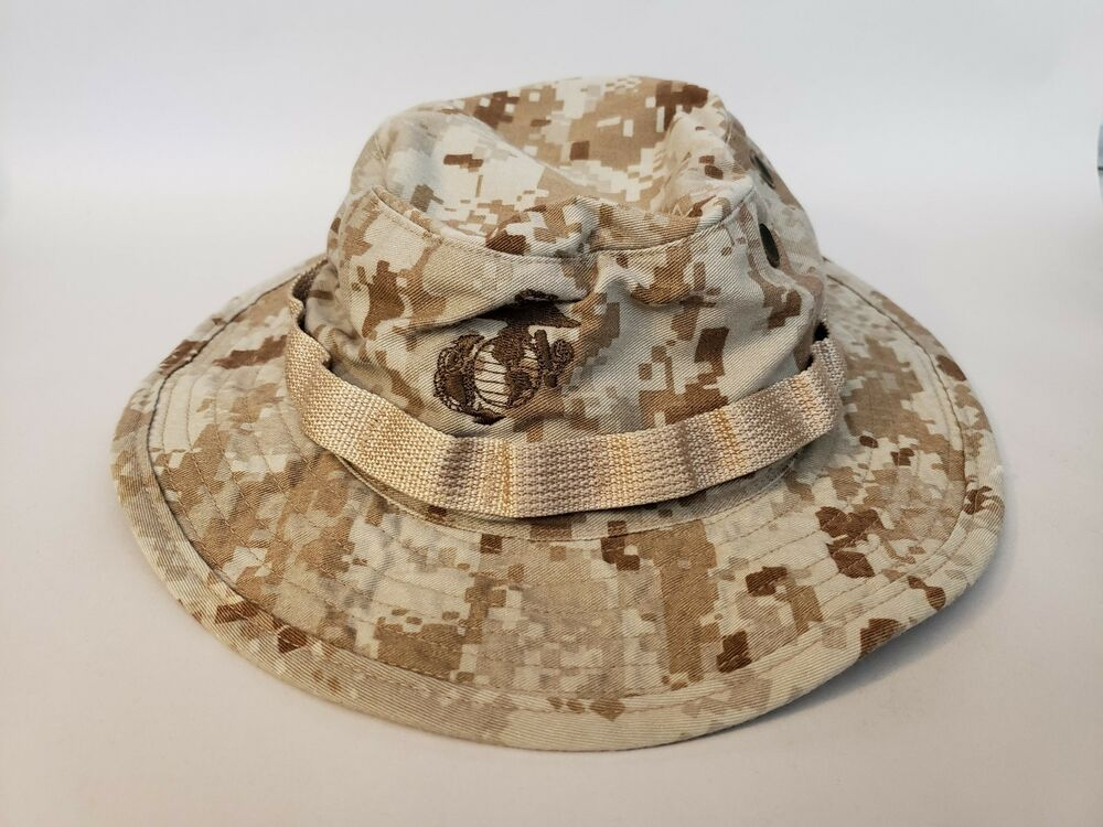 b079e5b9bea Details about USMC US Marine Corps Desert Boonie MARPAT Utility Cover Field  Cap Hat Camo