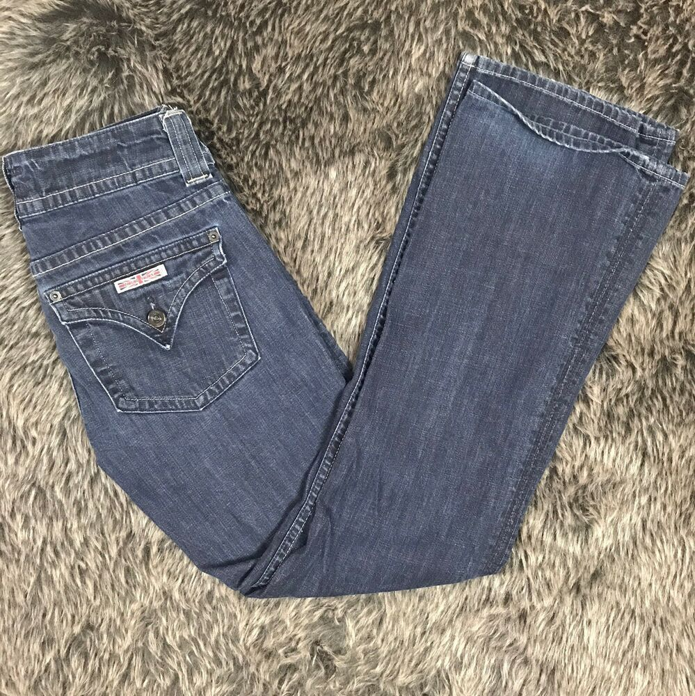 8eb7857a11c Details about HUDSON Size 28 Signature Bootcut Jeans Dark Wash Earl Flap  Pocket Women's 023