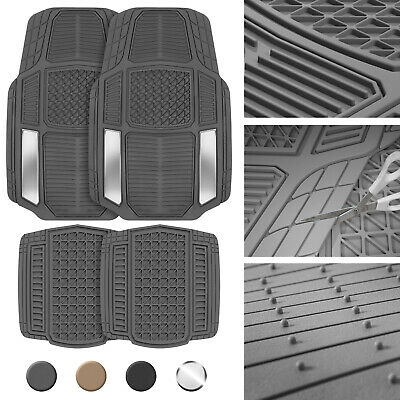 Heavy Duty Rubber Floor Mats for Car SUV Van Truck All Weather 4 Pieces Set