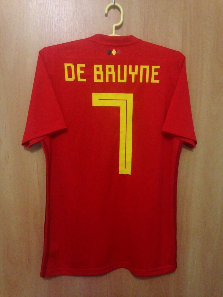 0304b7bbe84 BELGIUM NATIONAL TEAM 2017/2018 HOME FOOTBALL SHIRT JERSEY KEVIN DE BRUYNE  #7 | eBay