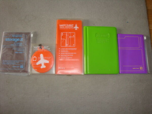 Lot Organiseur Voyage + bagage orange Happy Flight Alife Design (NEUF) + carnet