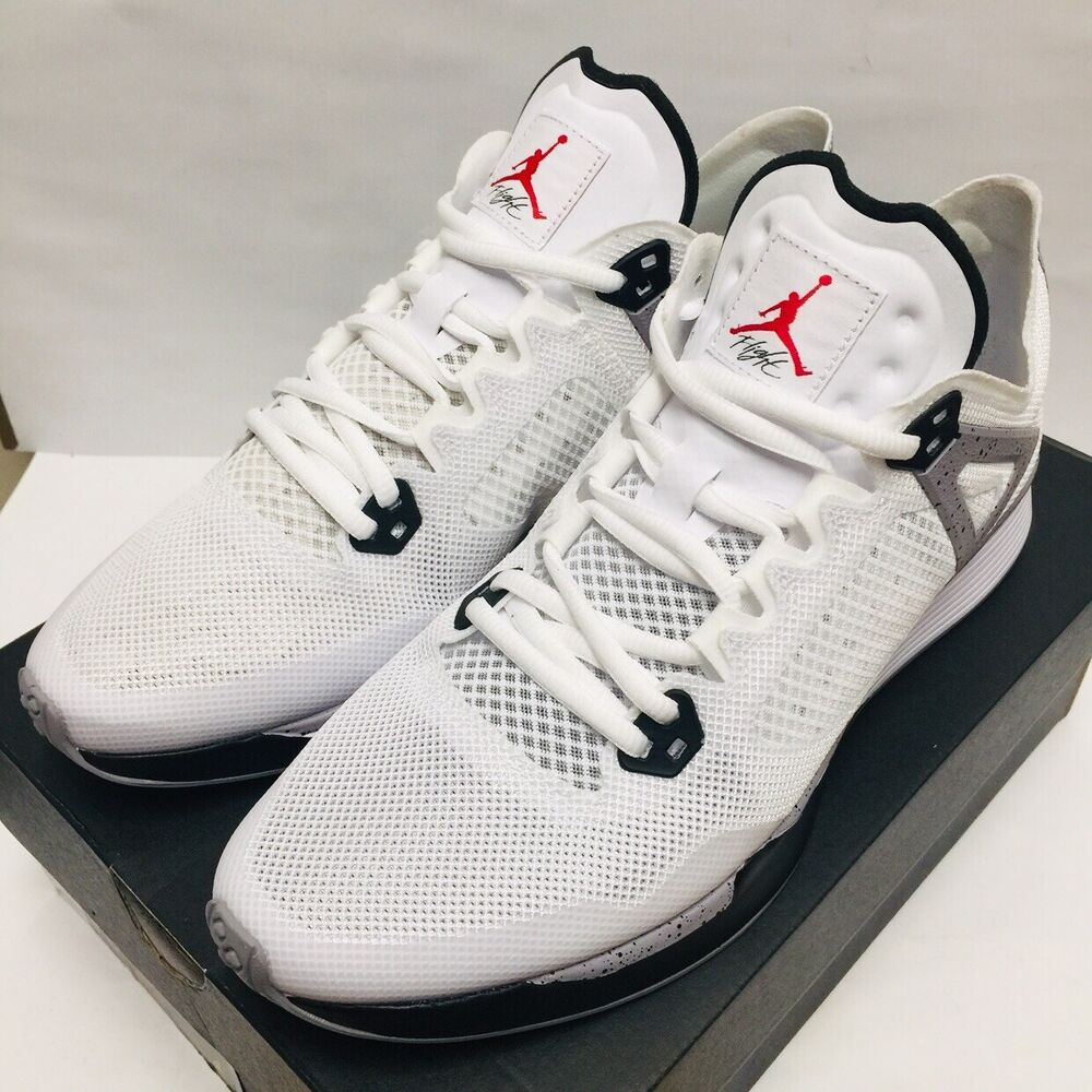 """96a18412ed7 Details about Jordan 89 Racer """"White Cement"""" Running Training Shoes White  (AQ3747-100) SZ 9.5"""