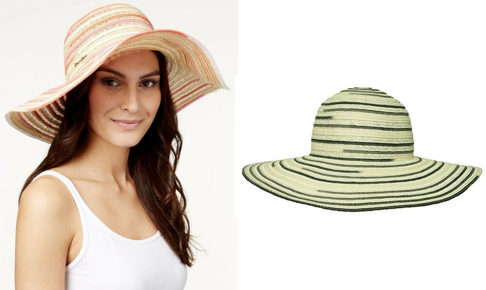 28b80ff3 Details about Calvin Klein Hats Space Dye Sun Hat Eggshell OR Light Coral