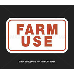 Farm Use Country Car Truck Glass Bumper Motorcycle Novelty Printed Vinyl Sticker