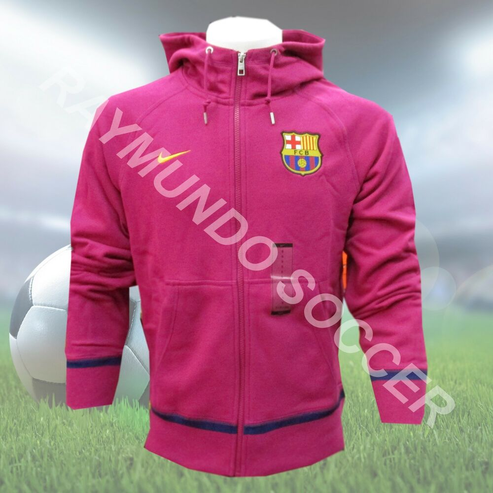 4659dac1213 Details about Nike FC Barcelona Authentic Hoodie - Dynamic Berry University  Gold