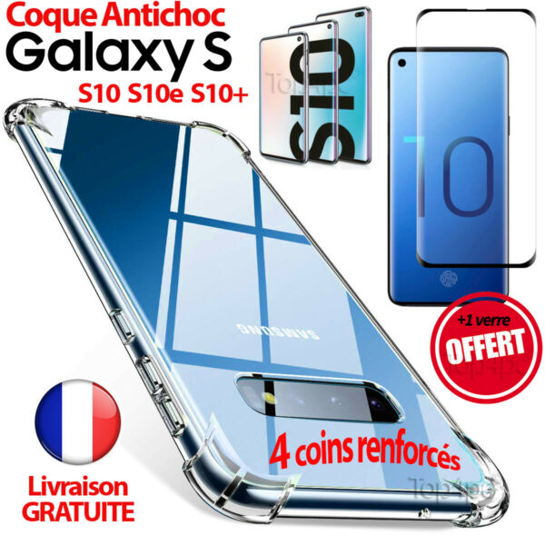 COQUE HOUSSE SAMSUNG GALAXY S10 S10e S10 PLUS VERRE PROTECTION CASE GLASS SCREEN