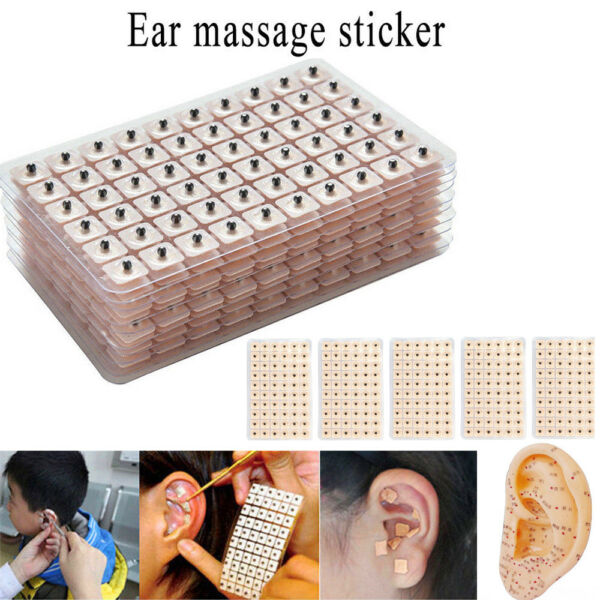 600 Magnetic Therapy Ear Patch Auriculotherapy Auricular Acupuncture Seeds Paste