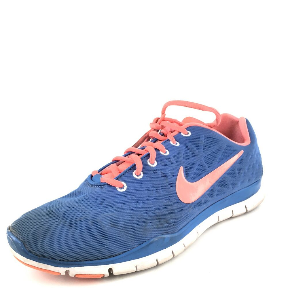 official photos 9b6f1 27872 Details about Nike Free TR Fit 3 Blue Atomic Pink Athletic Running Shoes  Women s Size 11 M