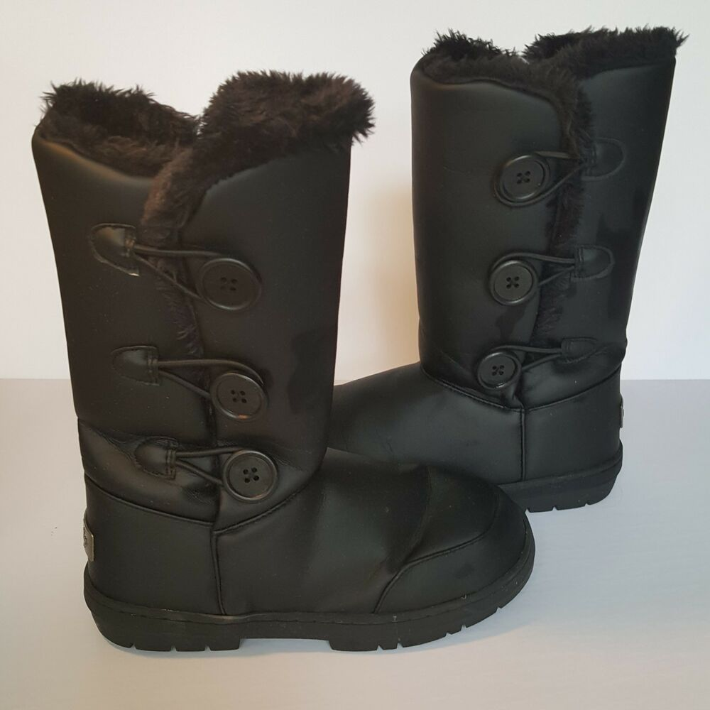 ea967b503 Details about Holly Boots Waterproof Women Snow Rain Winter Three Button US  7 UK 5 EU 38