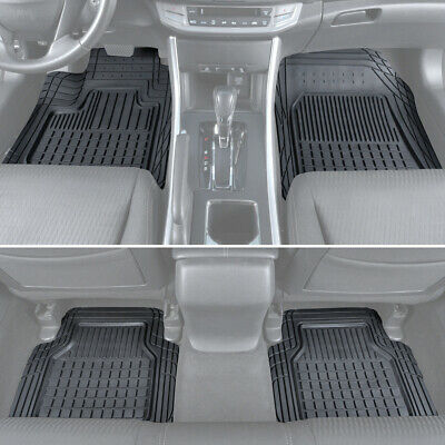 4 PC Rubber Car Floor Mats Motor Trend All Weather Semi-Custom Truck SUV Van