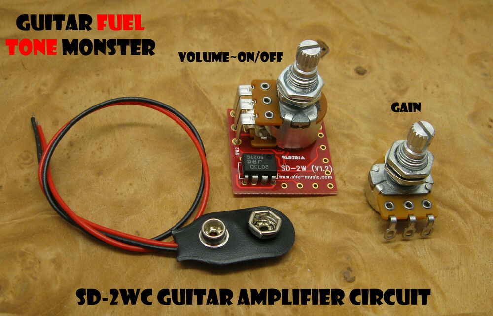 Tone Monster Sd2wc Guitar Amp Amplifier Circuit 2w Volume Gain 9v Cigar Box Diy