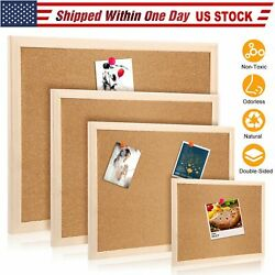Kyпить Cork Notice Message Board Wood Frame Office Memo School Home Pinboard Pushpins на еВаy.соm