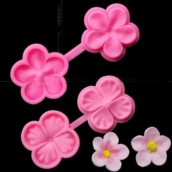 Flower Petal Fondant Silicone Mould Icing Cake Decor Chocolate Sugar Baking Mold