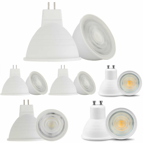 10X Dimmable GU10 MR16 GU5.3 COB LED Spotlight 5W Bulb Light Replace 50W Halogen