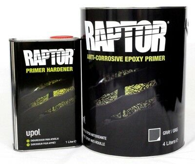 Epoxy Primer Kit U-Pol Raptor UP4830 2K Anti-Corrosive 5L Kit  4:1 Mix UPOL