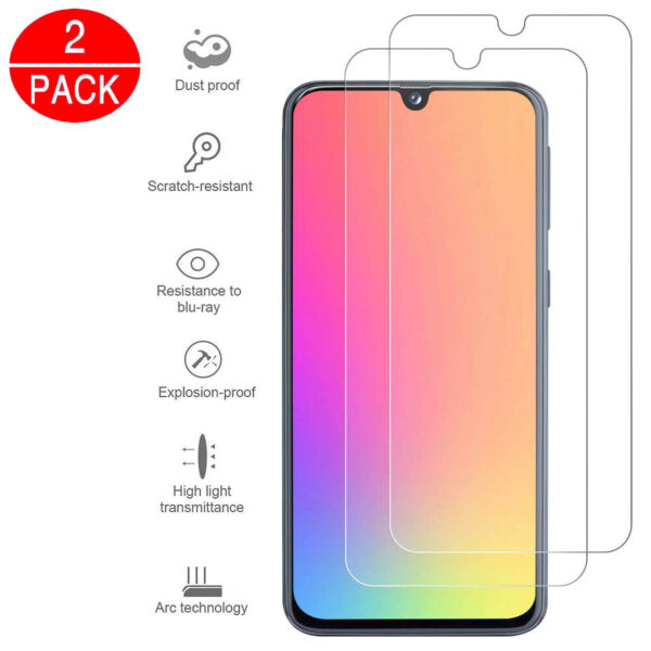 For Samsung Galaxy A40 A50 Full Coverage Tempered Glass Screen Protector Clear