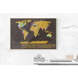 Kyпить Travelization Scratch Off Map Of The World With Country Flags на еВаy.соm