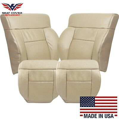 2005 2006 2007 2008 Ford F150 Lariat Leather Seat Cover in Medium Parchment Tan