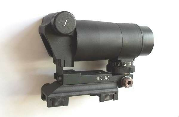 PK-AS W VISEUR COLLIMATEUR RED DOT / BLACK DOT WEAVER PICATINNY SCOPE