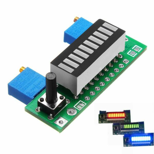 LM3914 3.7 V Lithium Capacity Indicator Red Geen Blue LED Display Module Hot