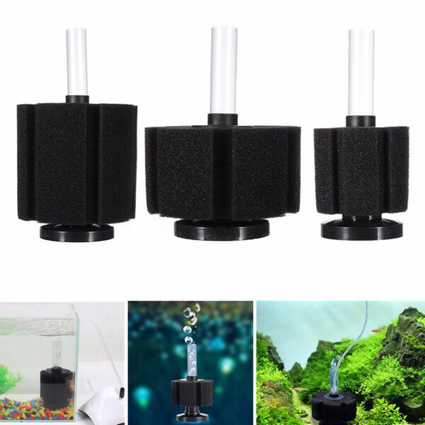 Aquarium Fish Tank Sponge Filter Biochemical Filtration Air Pump XY-180/280/380